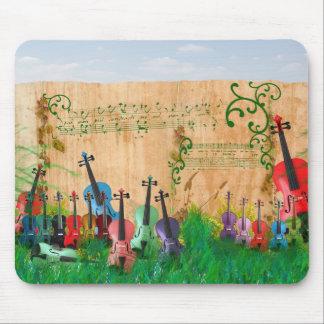 Violin Garden Mouse Mat