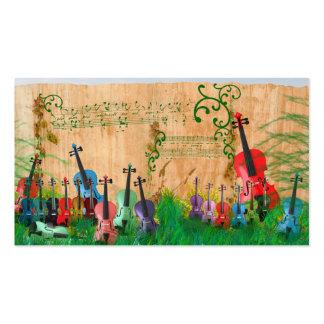 Violin Garden Pack Of Standard Business Cards