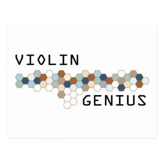 Violin Genius Postcard