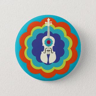Violin Gift-Button 6 Cm Round Badge