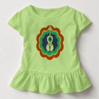 Violin Gift-Toddler Ruffle T-Shirt