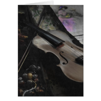 VIOLIN & GRAPES CARD