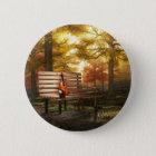 Violin in autumnal park 6 cm round badge