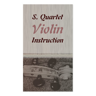 Violin Instruction Scroll Pack Of Standard Business Cards