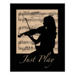 Violin... Just Play 16x20 poster