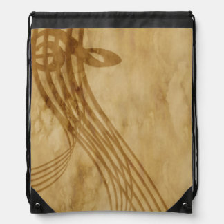 Violin key drawstring bag