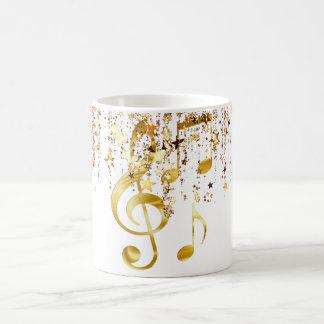 Violin key elegant coffee mug