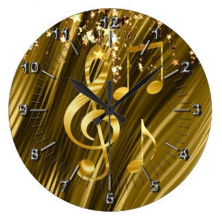 Violin key elegant large clock
