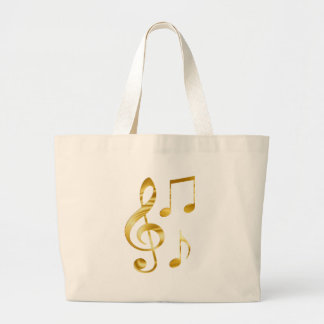 Violin key elegant large tote bag