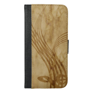 Violin key iPhone 6/6s plus wallet case