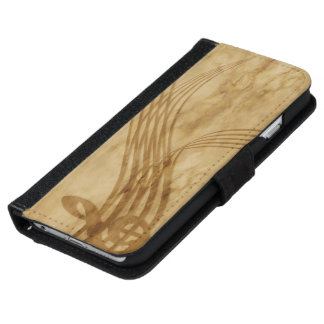 Violin key iPhone 6 wallet case