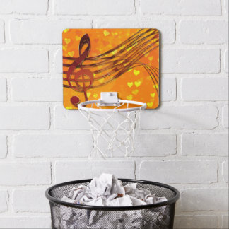 Violin key mini basketball hoop