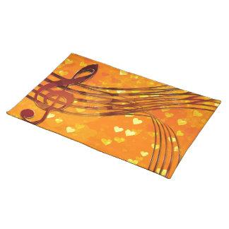 Violin key placemat