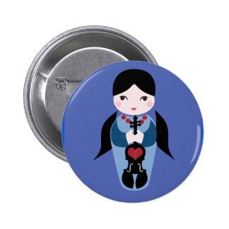 Violin Kokeshi Button