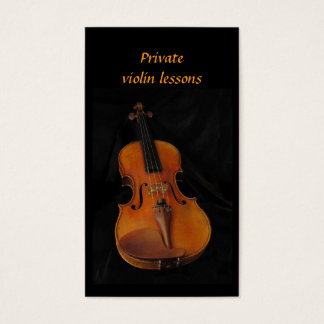 Violin Lessons Business Card