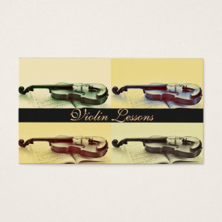 Violin Lessons, Instructor, Music Business Card