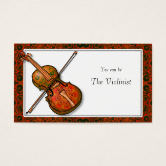 Violin Lessons with Renaissance Design Business Card