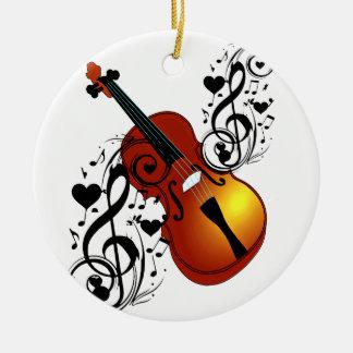 Violin,Lover at Heart_ Christmas Ornament