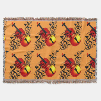 Violin,Lover at heart_ Throw Blanket