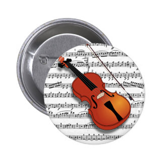Violin Lover_ Pinback Buttons