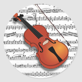 Violin Lover_ Classic Round Sticker