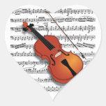 Violin Lover_ Heart Sticker