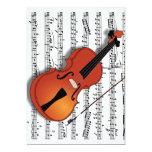 Violin Lover,Join Us_Invitation 13 Cm X 18 Cm Invitation Card