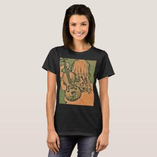 Violin Lover Ladies Earthy Tone Boho Tshirt