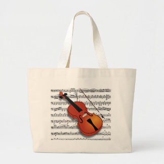 Violin Lover_ Large Tote Bag