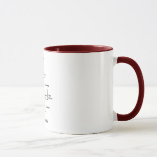 Violin Mug Brown Ringer