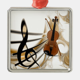 Violin Music Christmas Ornament