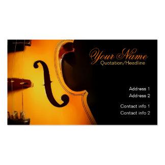 Violin Music Elegant Business card