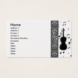 Violin & Music Notes Business Cards