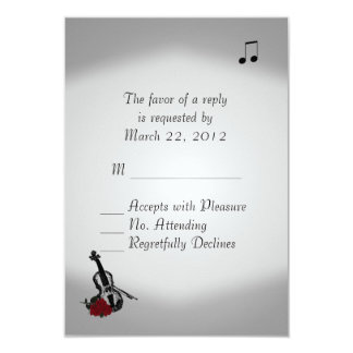Violin Music Wedding RSVP 9 Cm X 13 Cm Invitation Card