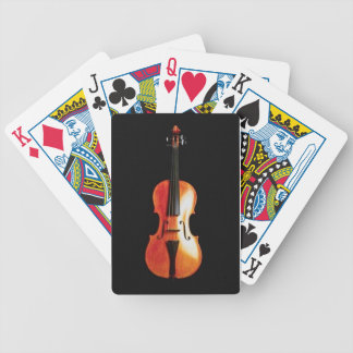 Violin on Charcoal Background Bicycle Playing Cards