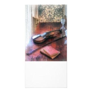 Violin on Credenza Photo Card Template