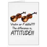 Violin or Fiddle??? Greeting Card