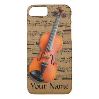 Violin Personalized Musical Notes iPhone 8/7 Case