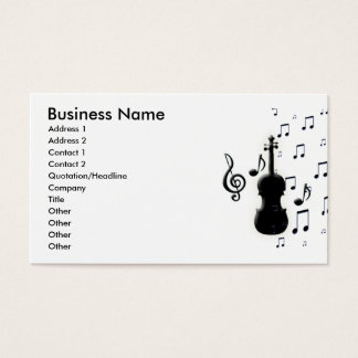 Violin Piano & Music Notes Business Cards