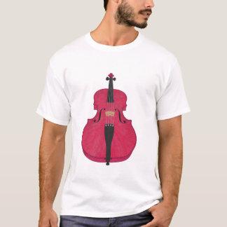 Violin: Pink Violin: 3d Model Angle #3: Music T-Shirt
