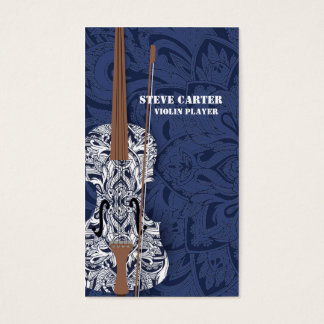 Violin Player Music Artist Card Teacher Master