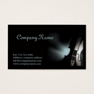 Violin Player or Musician Music School Teacher Business Card