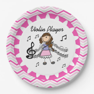 Violin Player Paper Plates 9 Inch Paper Plate