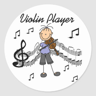Violin Player Stickers Sticker