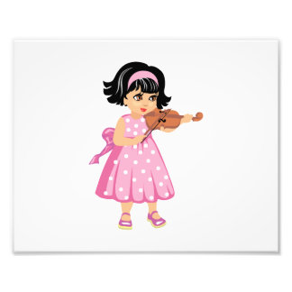 violin player young girl pink dress.png photo
