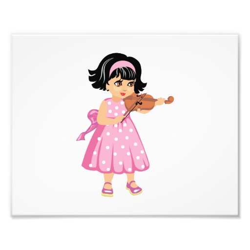 violin player young girl pink dress.png photo art