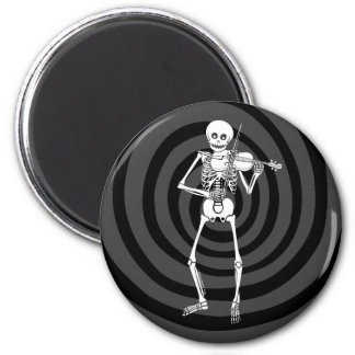 Violin Playing Skeleton Magnet