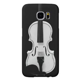 Violin Portrait - Black and White Photograph Samsung Galaxy S6 Cases