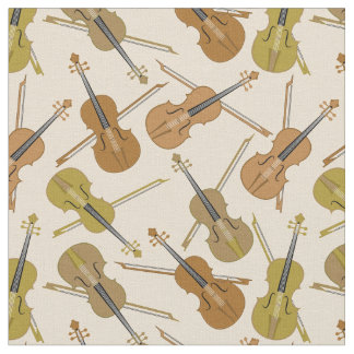 Violin Print Pattern Fabric