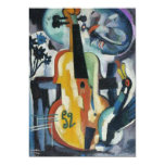 Violin Recital Modern Art Personalised Announcements